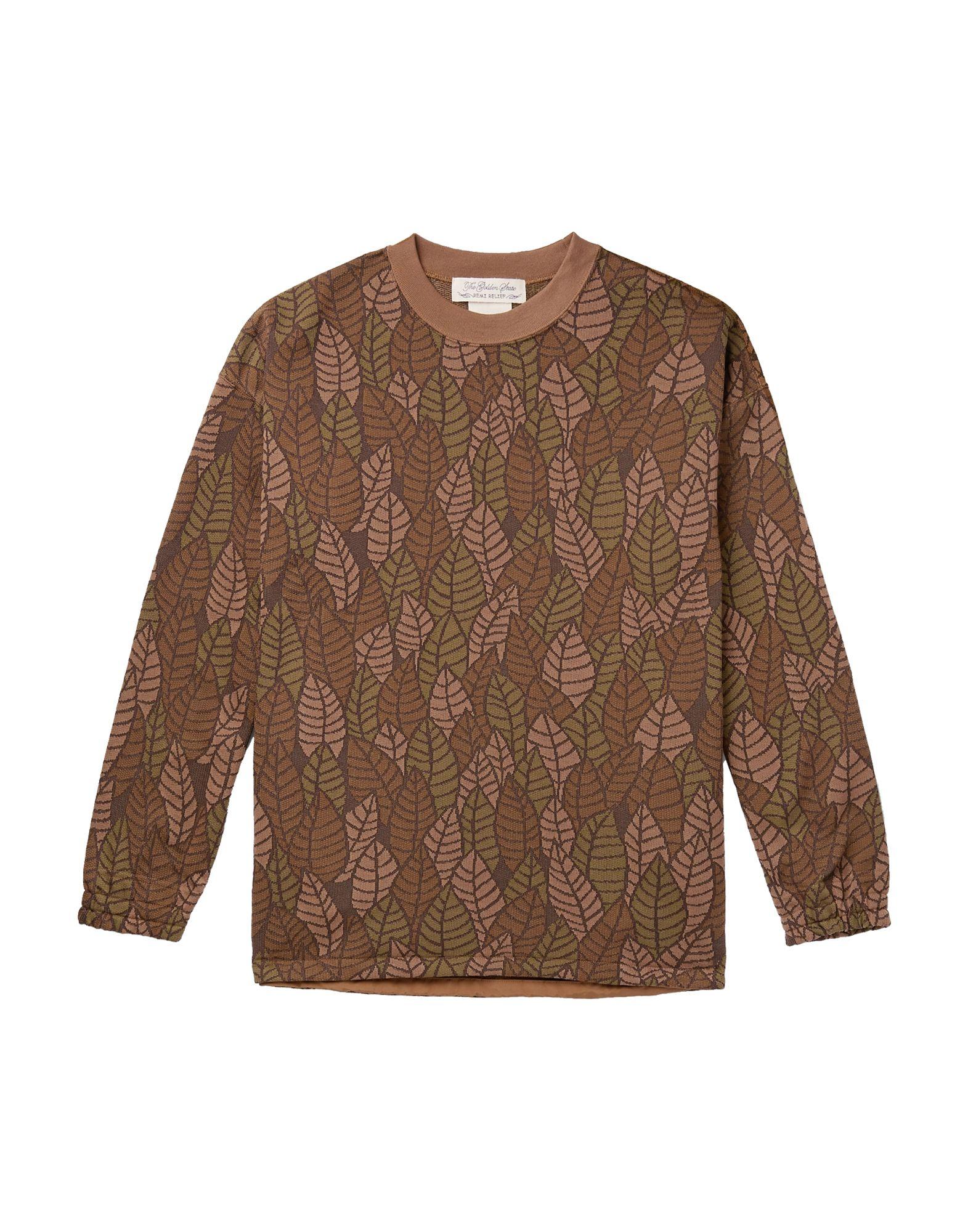 《セール開催中》REMI RELIEF メンズ スウェットシャツ ブラウン S ポリエステル 100% / ナイロン