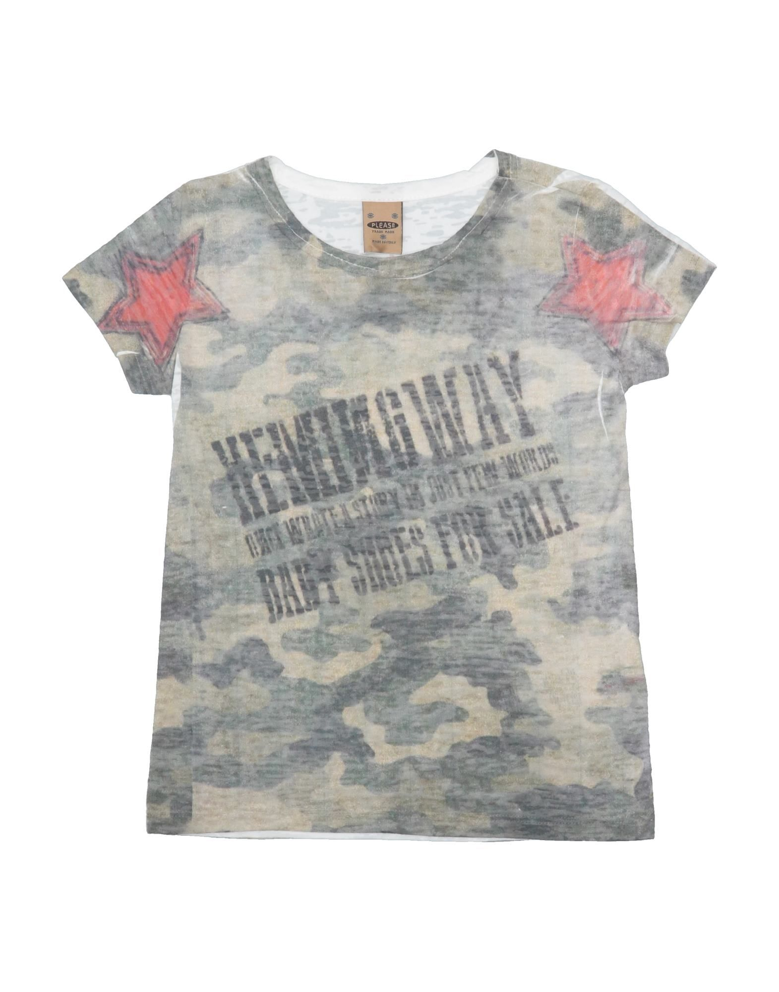 Please Kids' T-shirts In Gray