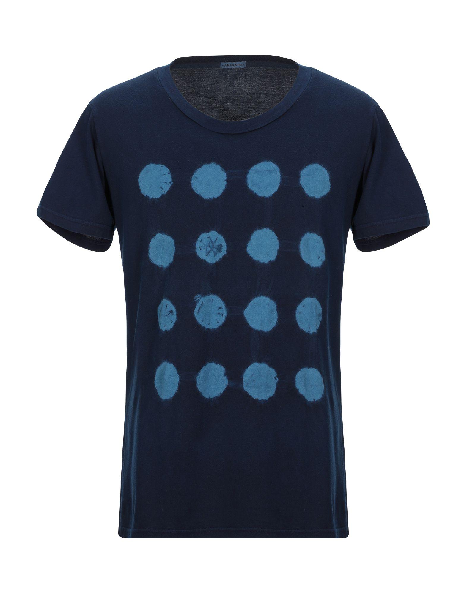 《セール開催中》AXEL ARIGATO メンズ T シャツ ダークブルー L コットン 100%