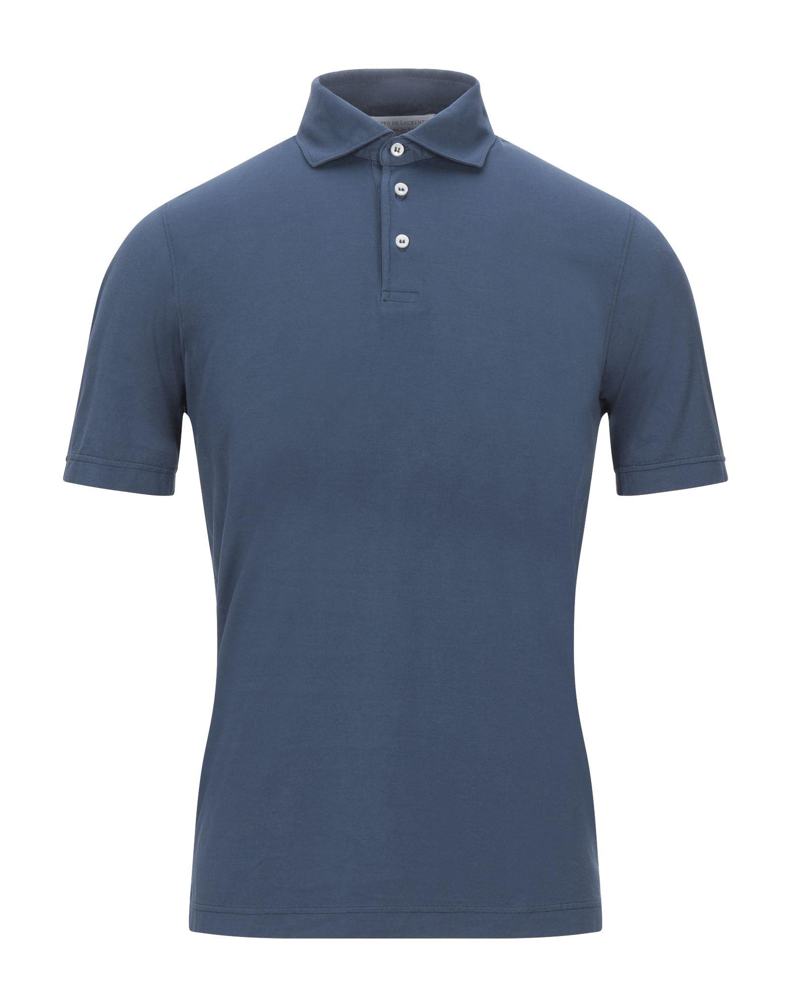 《セール開催中》FILIPPO DE LAURENTIIS メンズ ポロシャツ ダークブルー 46 コットン 100%
