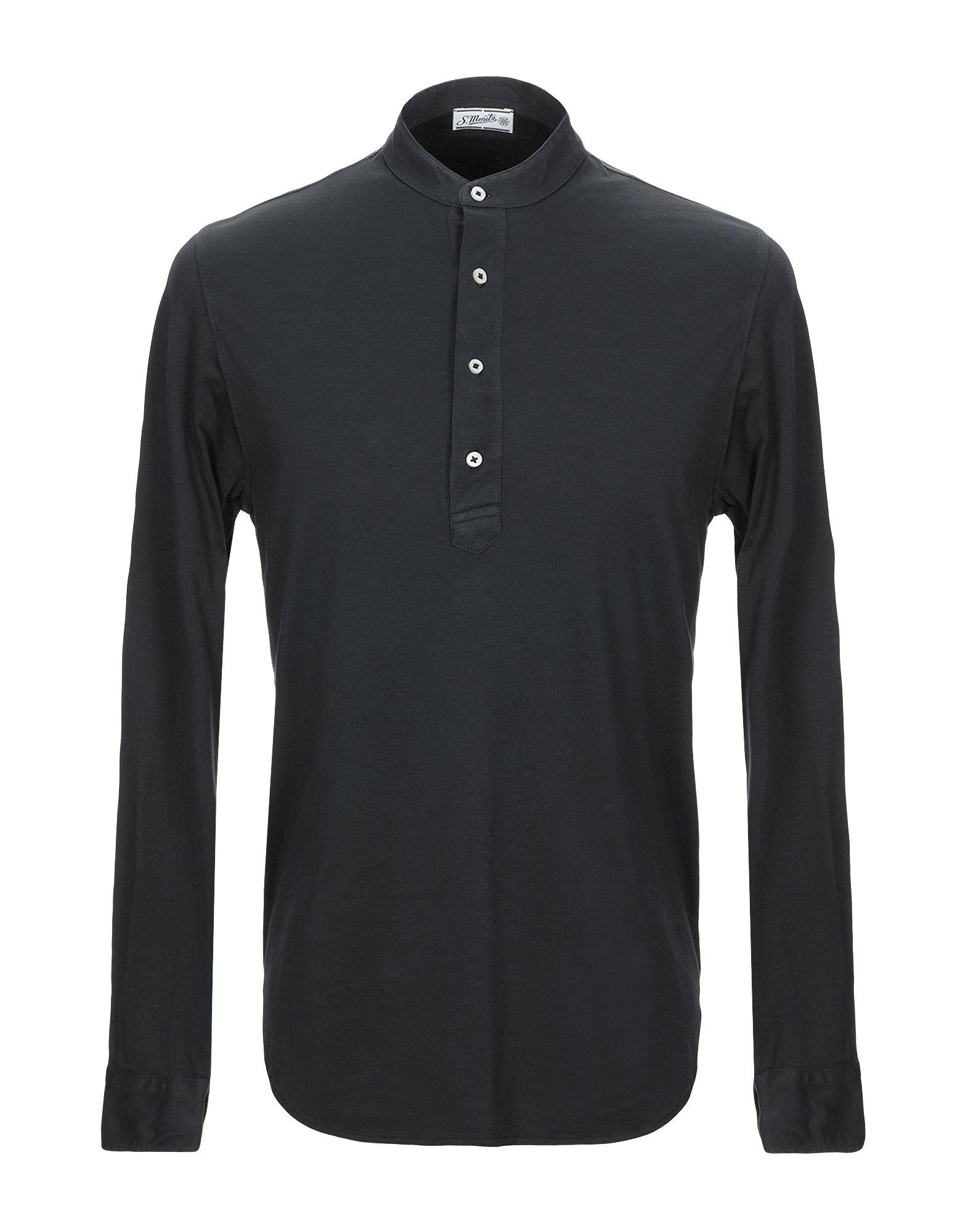 《セール開催中》S. MORITZ メンズ T シャツ ブラック 48 コットン 100%