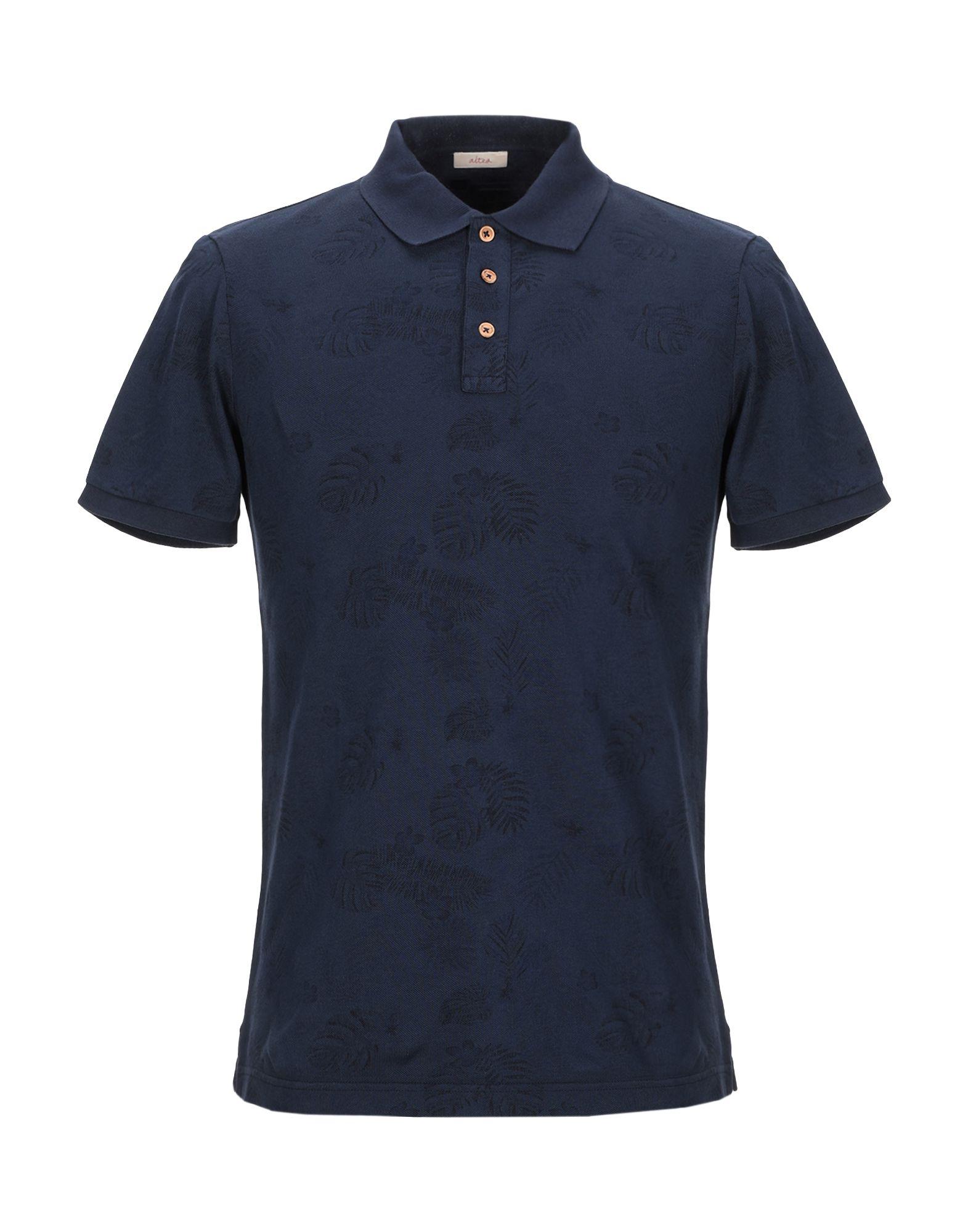 《セール開催中》ALTEA メンズ ポロシャツ ダークブルー M コットン 100%