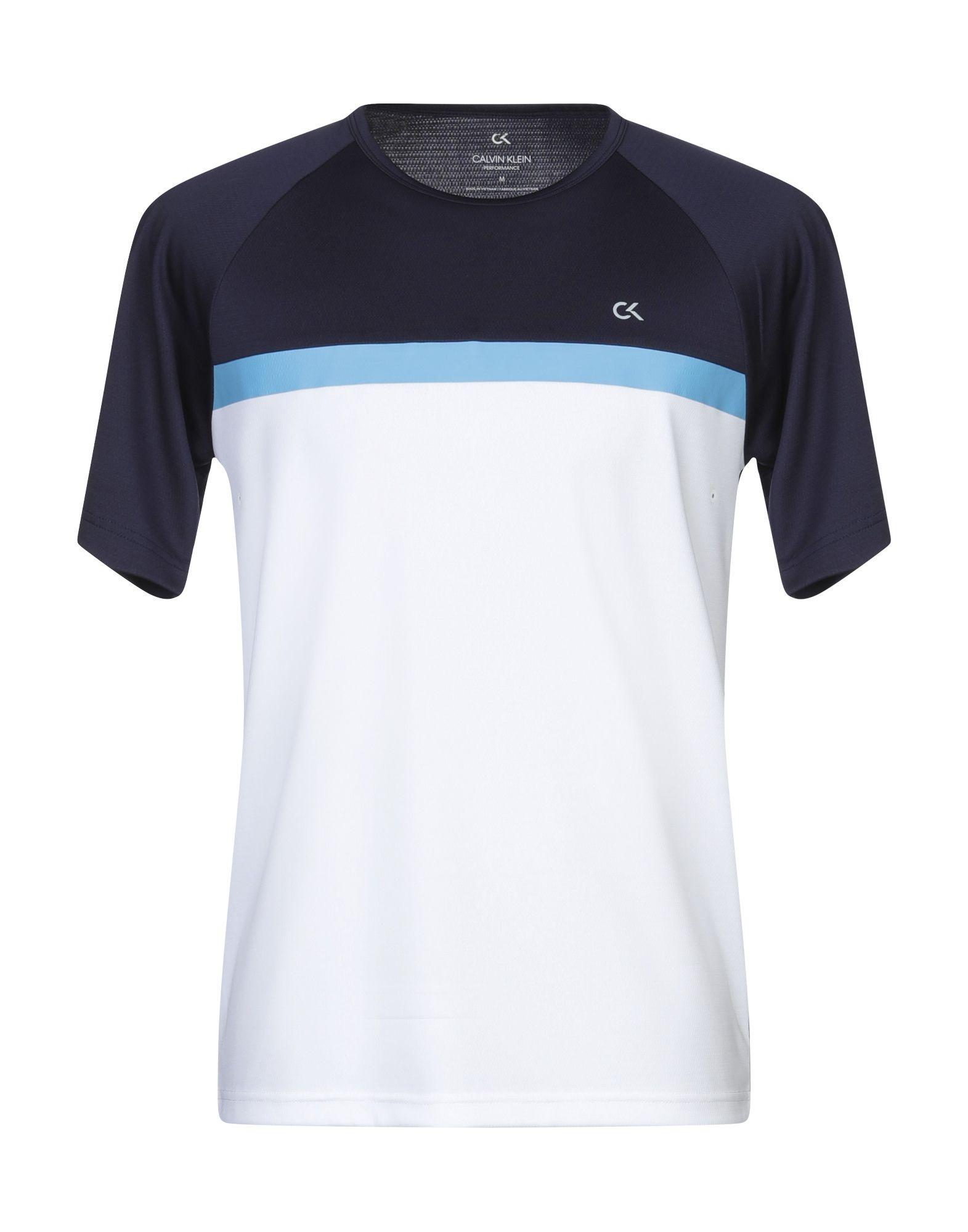 《セール開催中》CALVIN KLEIN PERFORMANCE メンズ T シャツ ホワイト M ポリエステル 100%