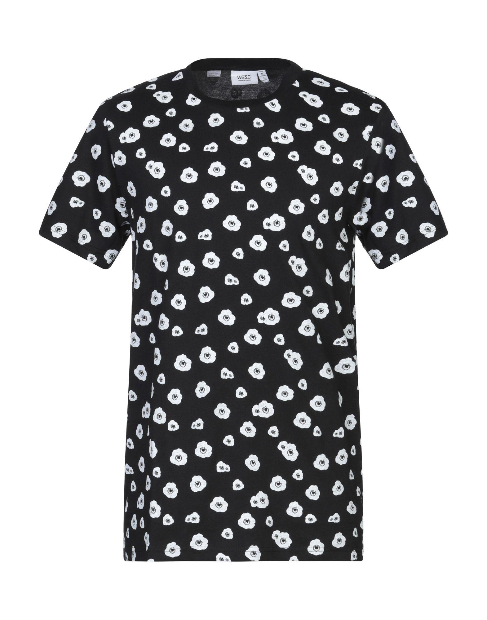 《セール開催中》WESC メンズ T シャツ ブラック XS コットン 100%