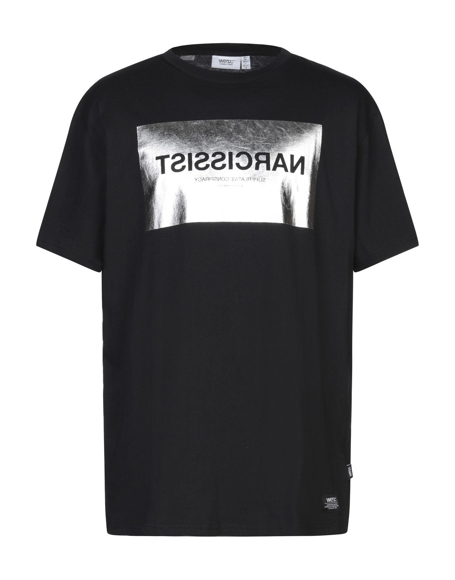 《セール開催中》WESC メンズ T シャツ ブラック M コットン 100%