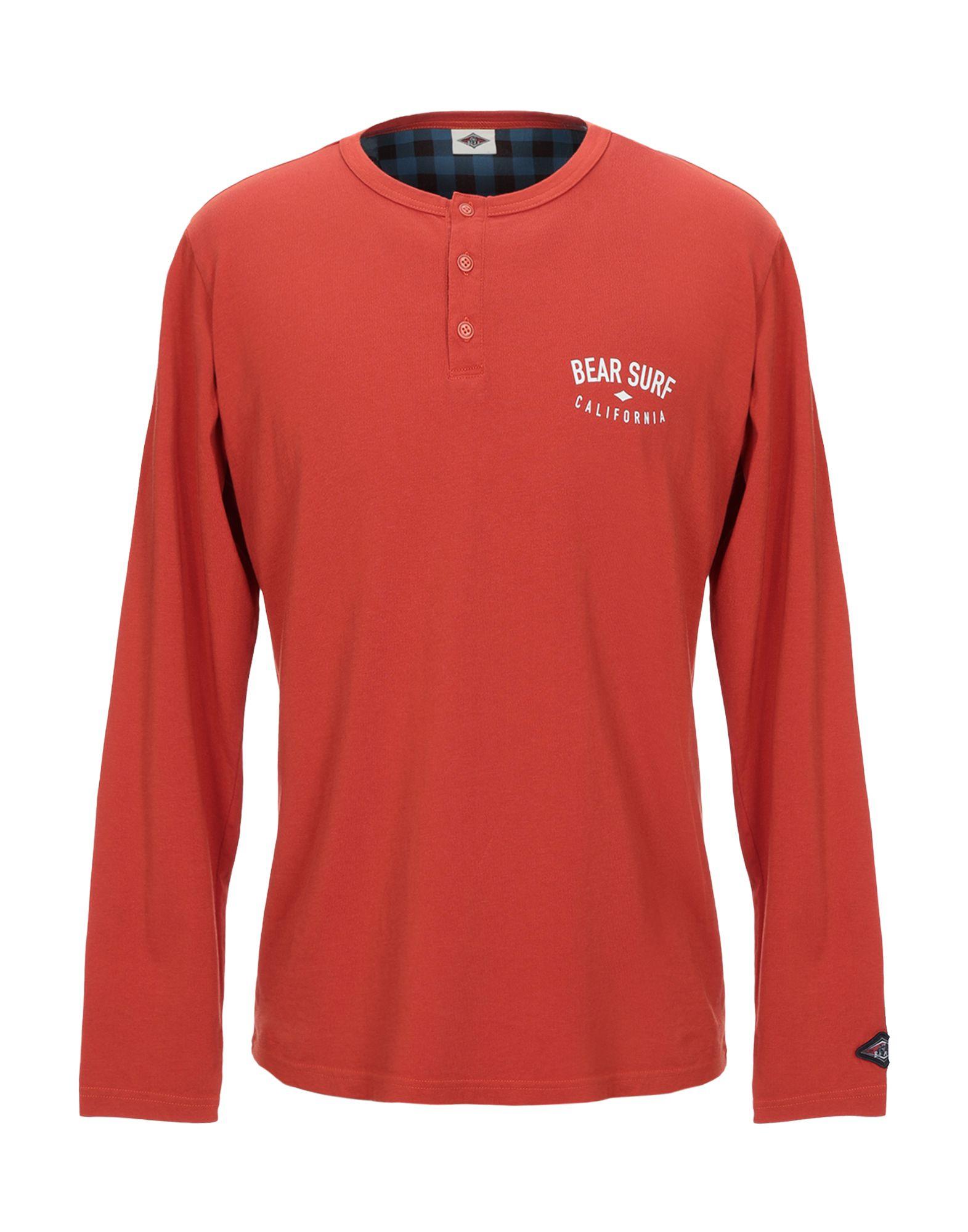 《セール開催中》BEAR メンズ T シャツ 赤茶色 L コットン 100%