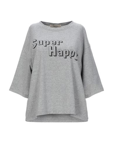 Фото - Женскую футболку HAPPY25 серого цвета