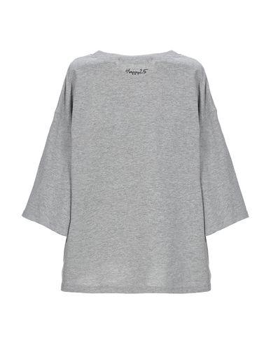 Фото 2 - Женскую футболку HAPPY25 серого цвета