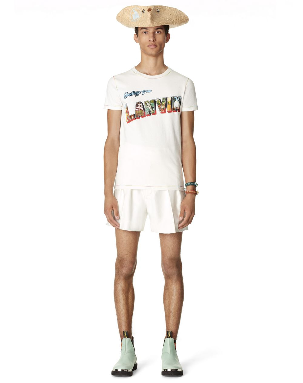 T-SHIRT IMPRIMÉ GREETINGS FROM LANVIN - Lanvin