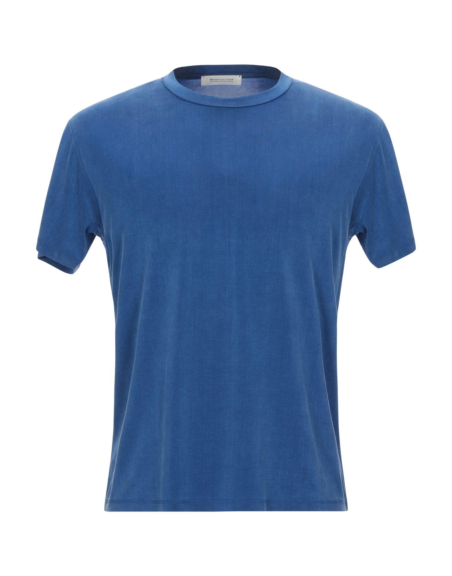 《セール開催中》MANIFATTURA MAGLIERIA ITALIANA Firenze メンズ T シャツ ブルー M キュプラ 92% / ポリウレタン 8%