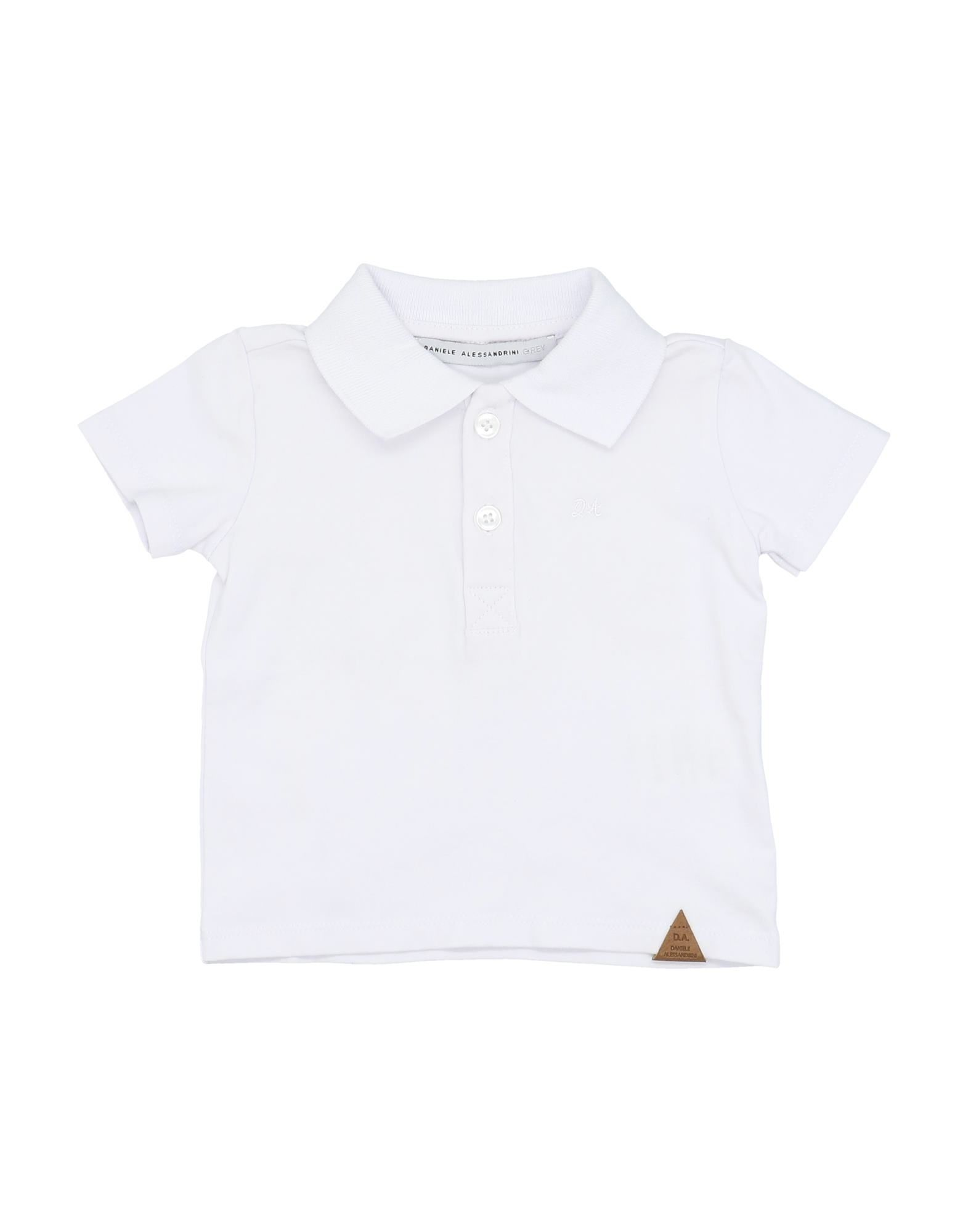 Daniele Alessandrini Kids' Polo Shirts In White