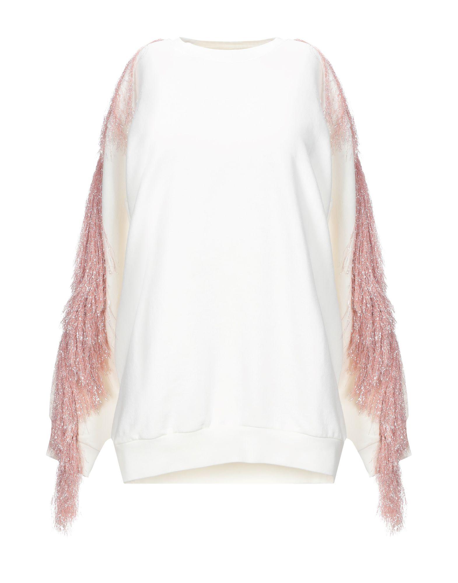 《セール開催中》VICOLO レディース スウェットシャツ ホワイト one size コットン 95% / ポリウレタン 5%