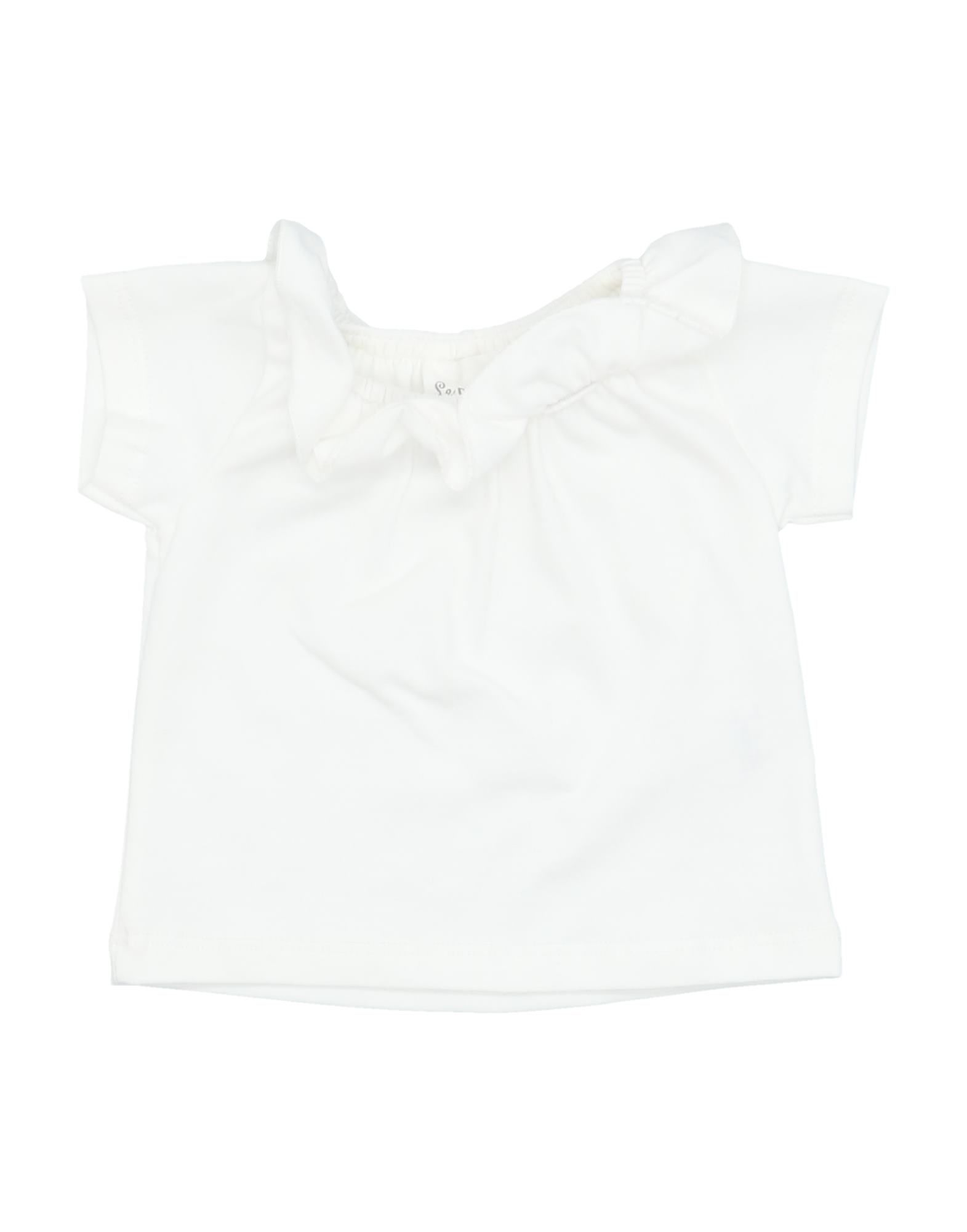 Le Petit Coco Kids' T-shirts In White