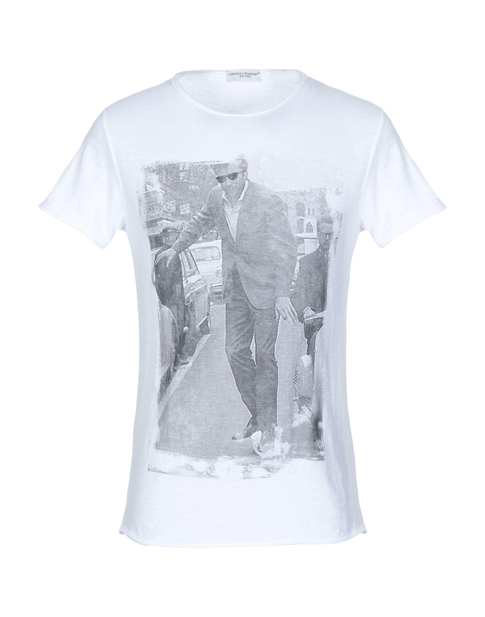 《セール開催中》ATHLETIC VINTAGE メンズ T シャツ ホワイト XS コットン 100%