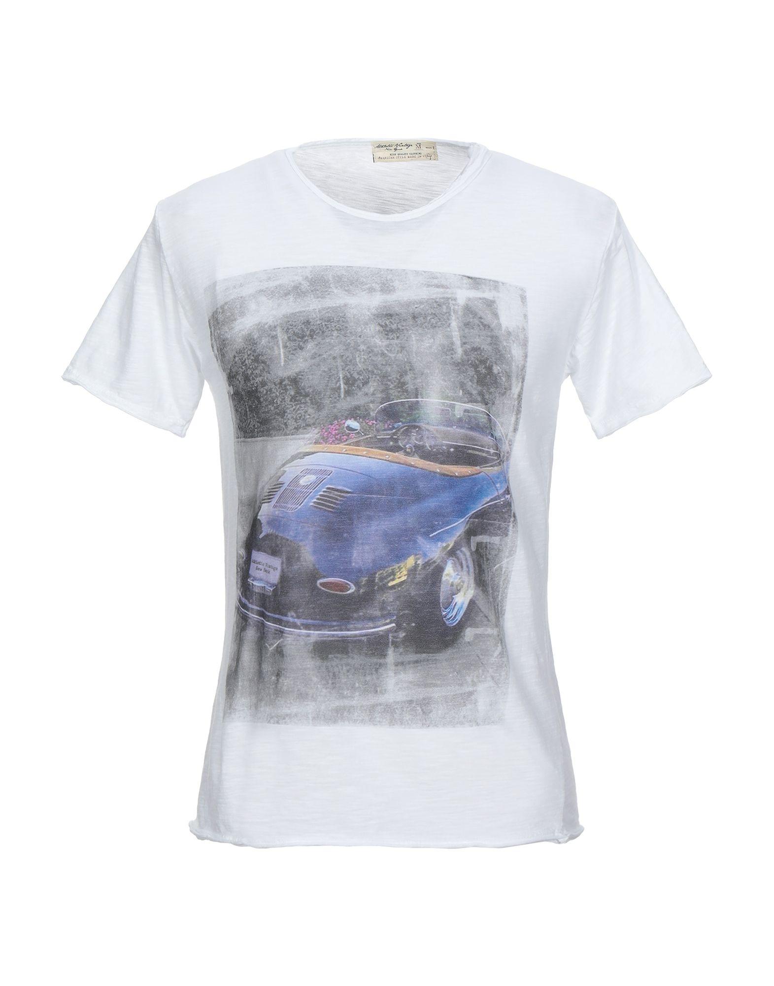 《セール開催中》ATHLETIC VINTAGE メンズ T シャツ ホワイト S コットン 100%