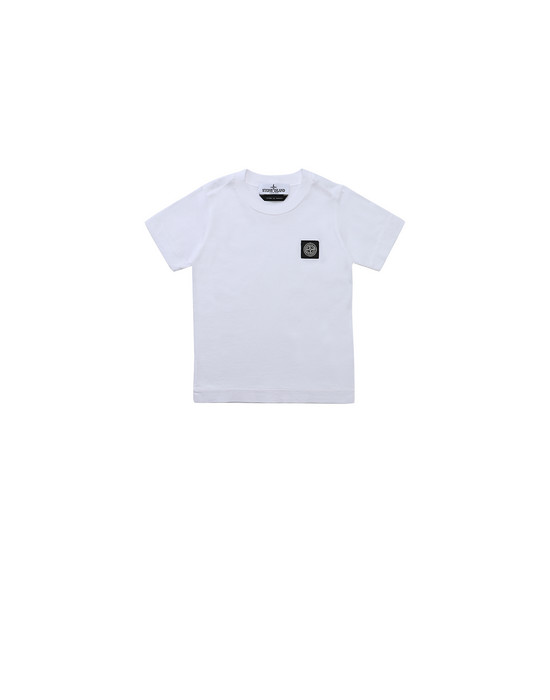 STONE ISLAND JUNIOR 20147 Short sleeve t-shirt Man White