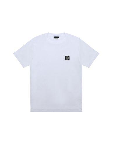 STONE ISLAND TEEN 20147 Short sleeve t-shirt Man White EUR 73