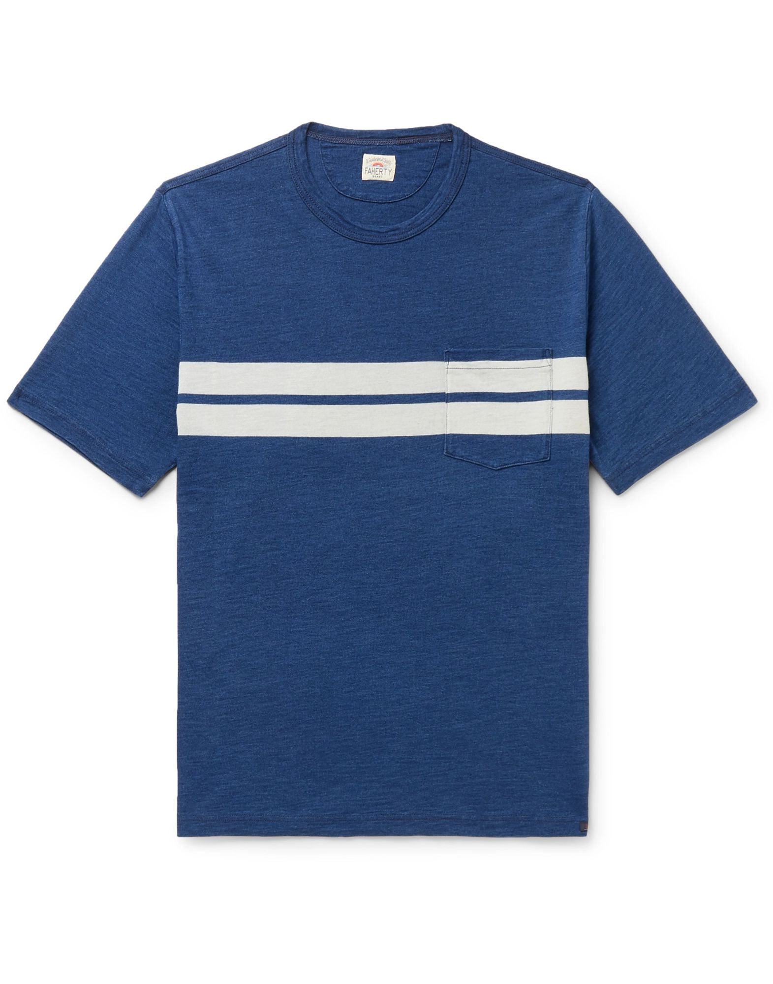 FAHERTY T-shirts. jersey, no appliqués, solid color, round collar, short sleeves, single pocket. 100% Cotton