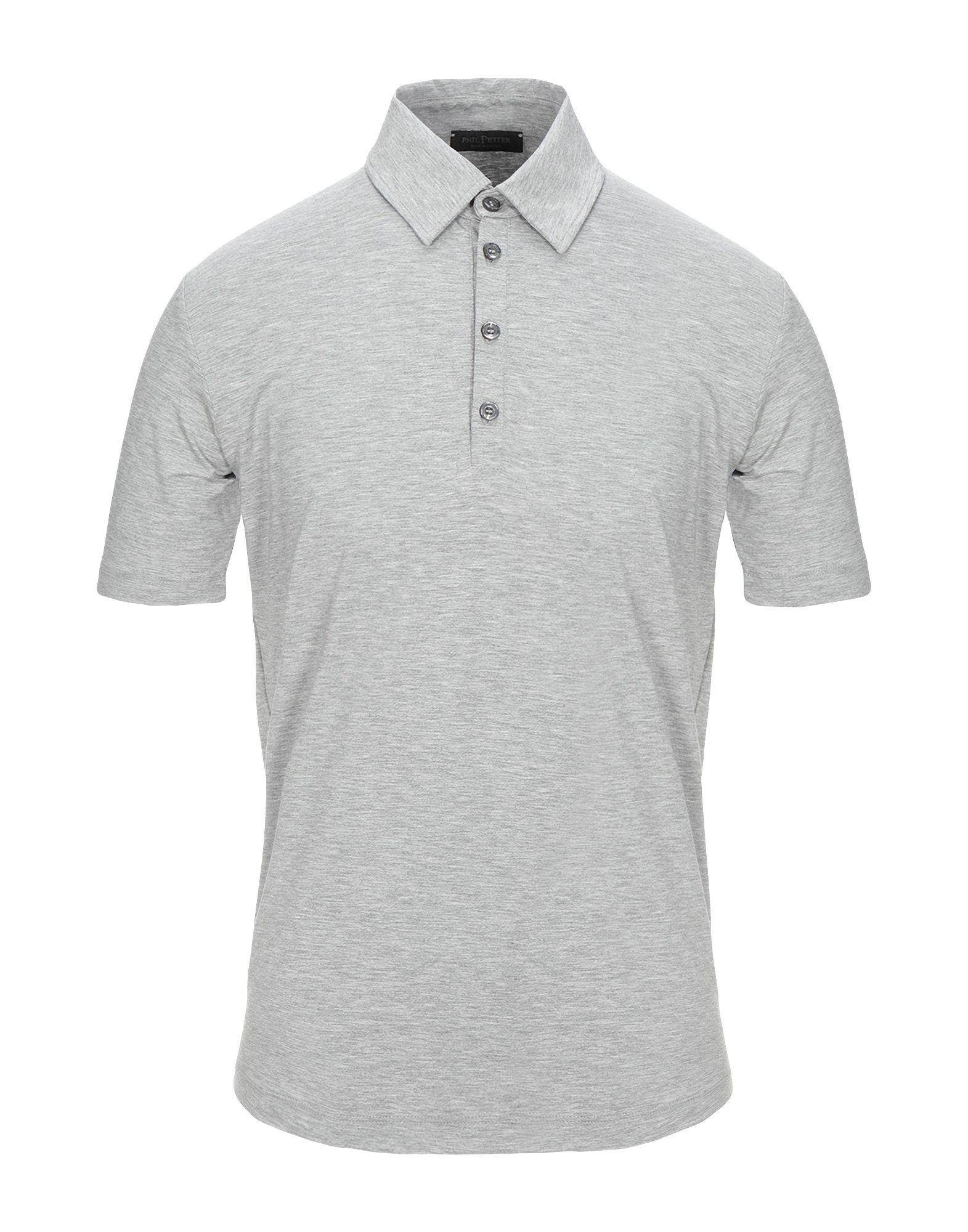 《セール開催中》PHIL PETTER メンズ ポロシャツ グレー S レーヨン 93% / ポリウレタン 7%