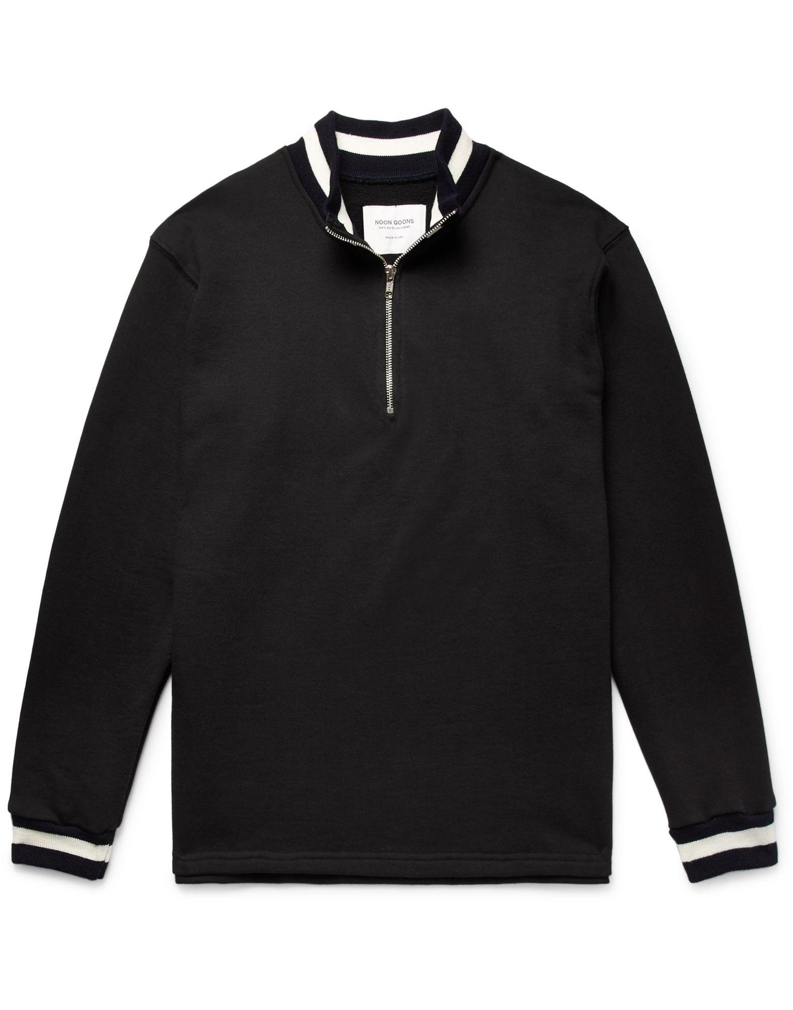 《セール開催中》NOON GOONS メンズ スウェットシャツ ブラック S コットン 100%