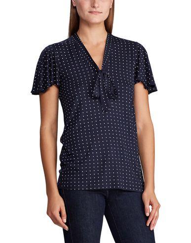 Фото 2 - Женскую футболку LAUREN RALPH LAUREN темно-синего цвета