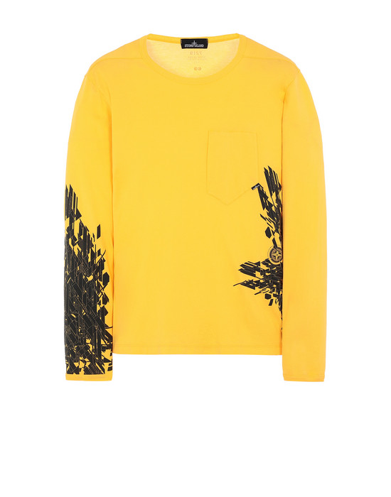 STONE ISLAND SHADOW PROJECT 20215 PRINTED LS CATCH POCKET-T1 Long sleeve t-shirt Man Yellow