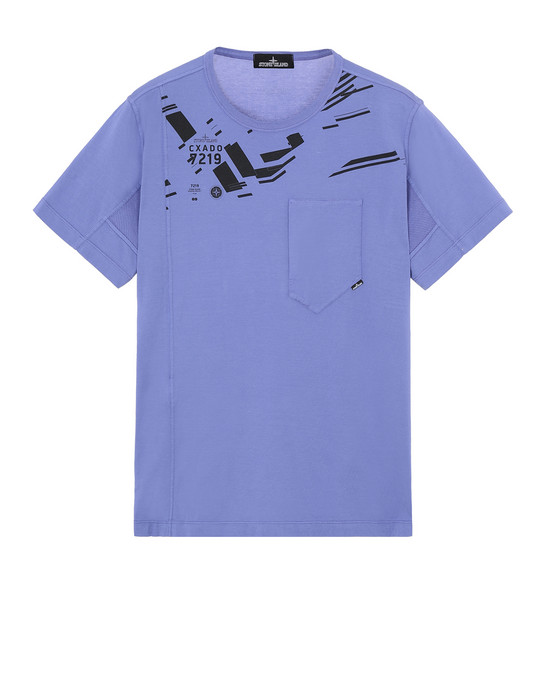 STONE ISLAND SHADOW PROJECT 20610 PRINTED SS CATCH POCKET-T Short sleeve t-shirt Man Lavender