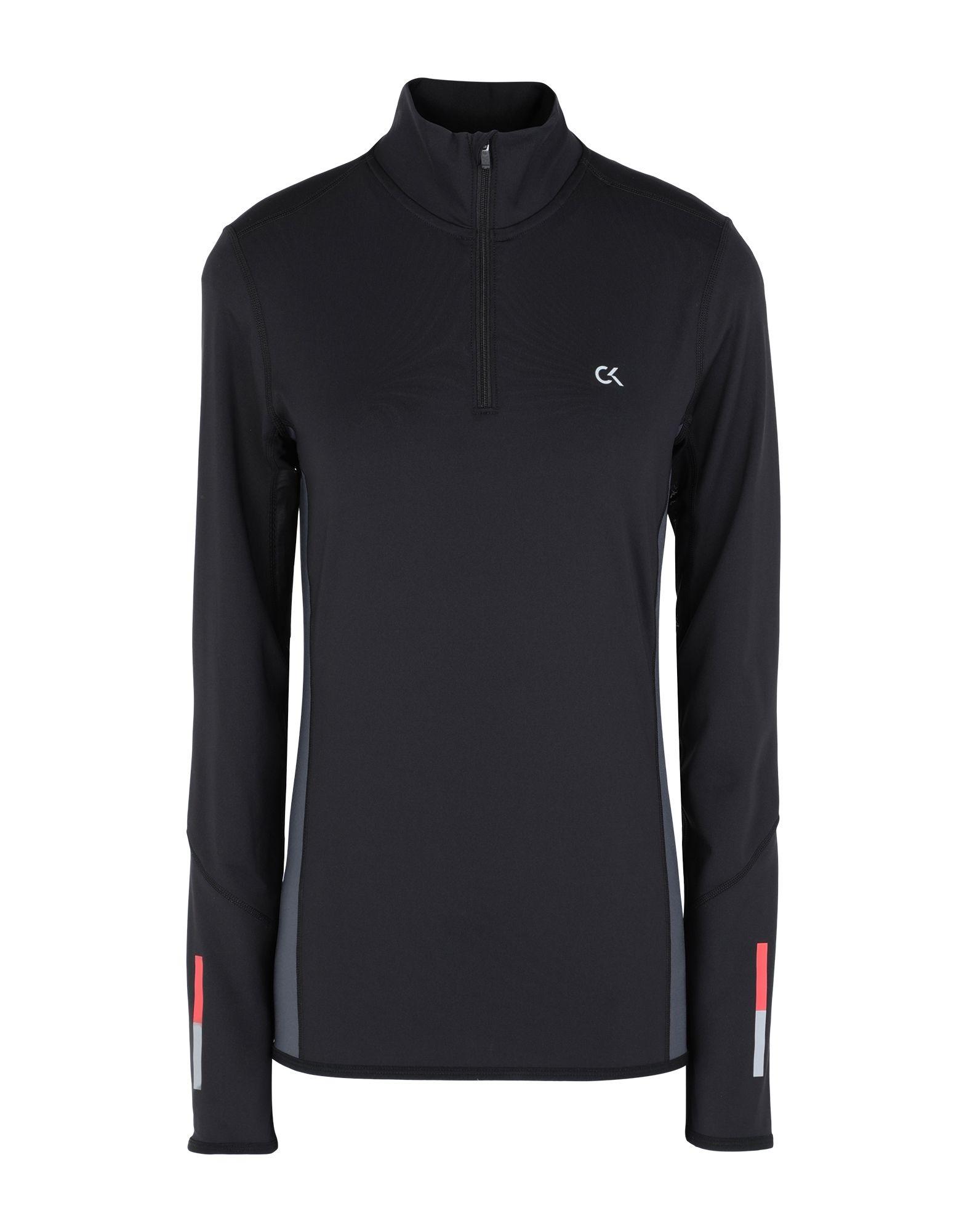 《セール開催中》CALVIN KLEIN PERFORMANCE レディース T シャツ ブラック XS ポリエステル 79% / ポリウレタン 21% GALAXY BEST