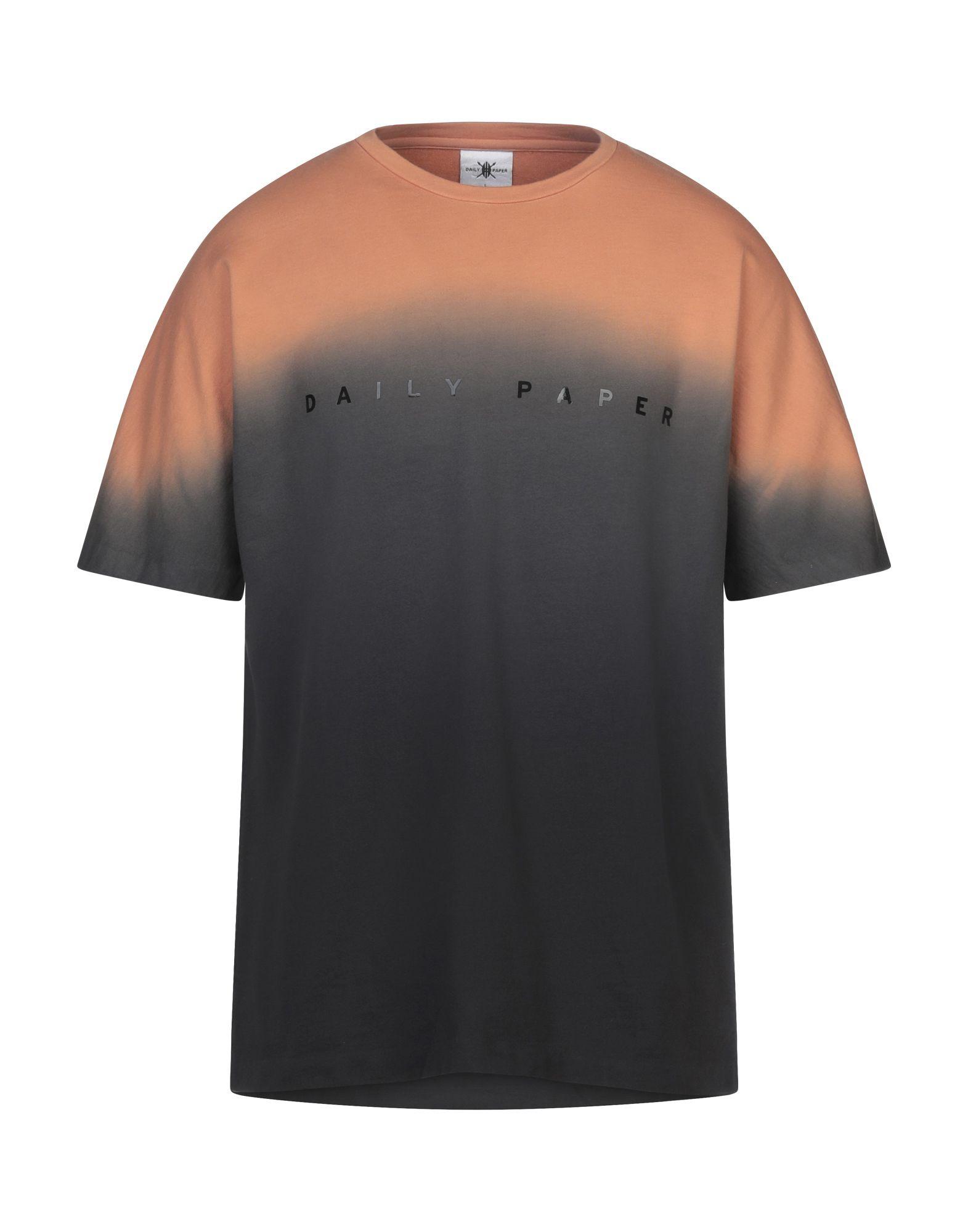 《セール開催中》DAILY PAPER メンズ T シャツ ブラック L コットン 100%