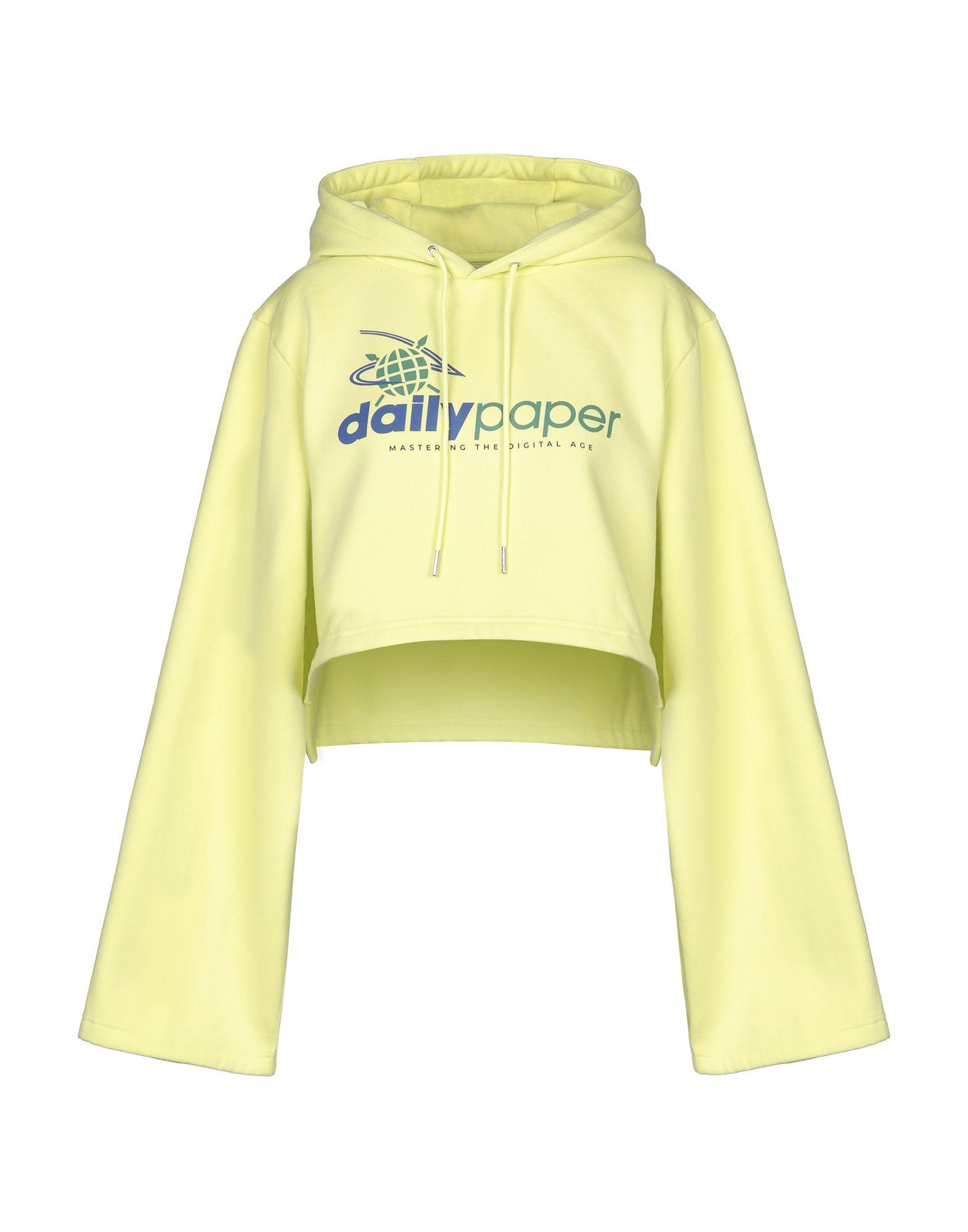 《セール開催中》DAILY PAPER レディース スウェットシャツ イエロー S ポリエステル 65% / コットン 35%