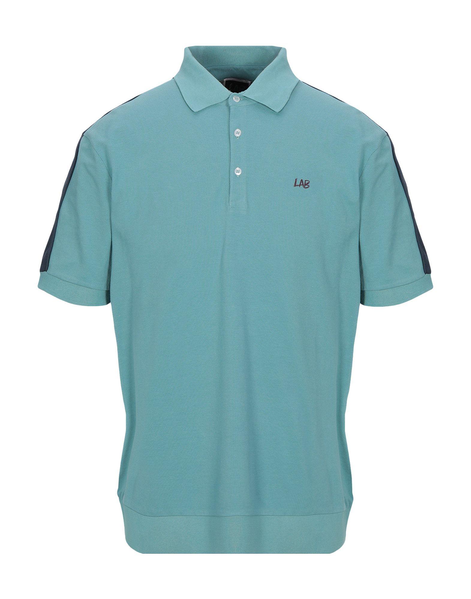 《セール開催中》LAB. PAL ZILERI メンズ ポロシャツ ライトグリーン 52 コットン 100%
