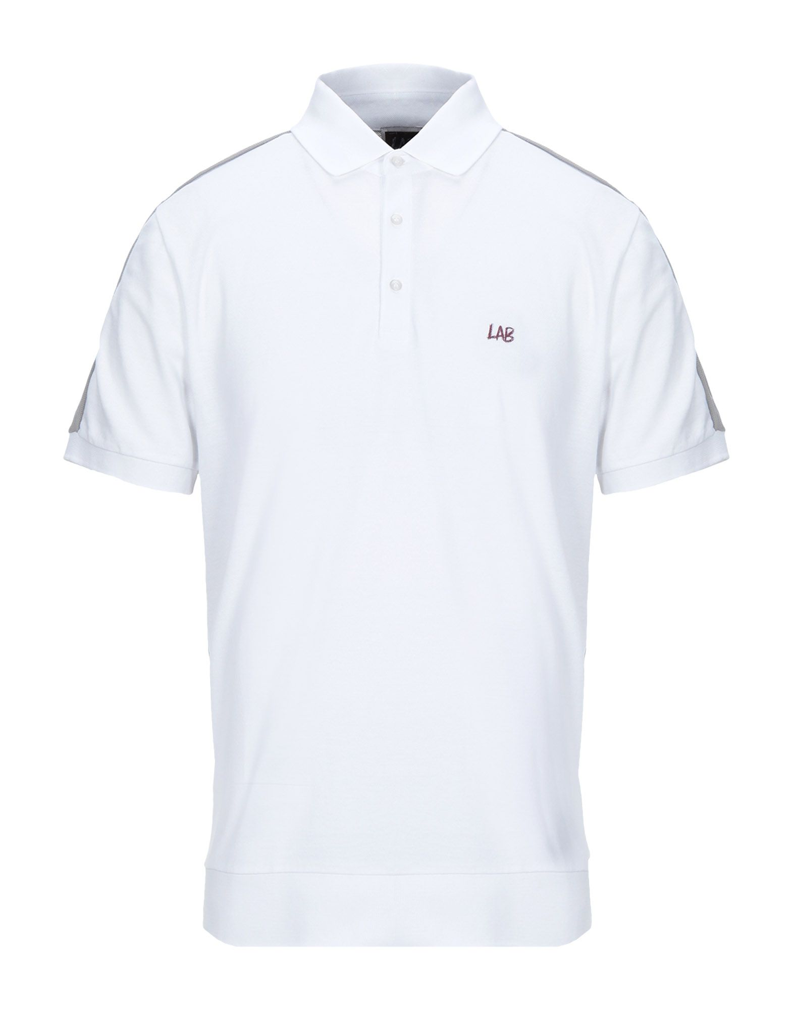 《セール開催中》LAB. PAL ZILERI メンズ ポロシャツ ホワイト 48 コットン 100%