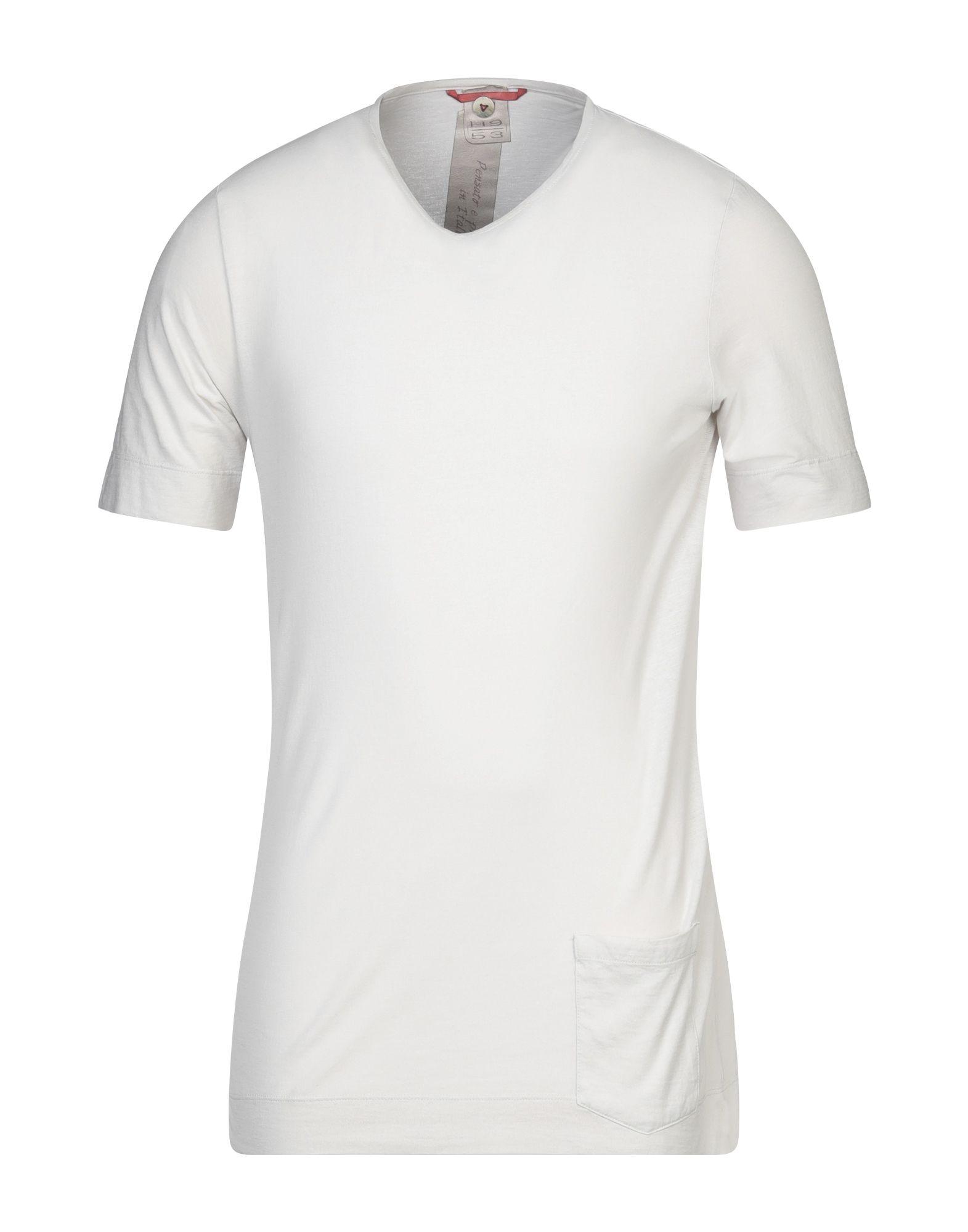 《セール開催中》H953 メンズ T シャツ ライトグレー 46 コットン 100%