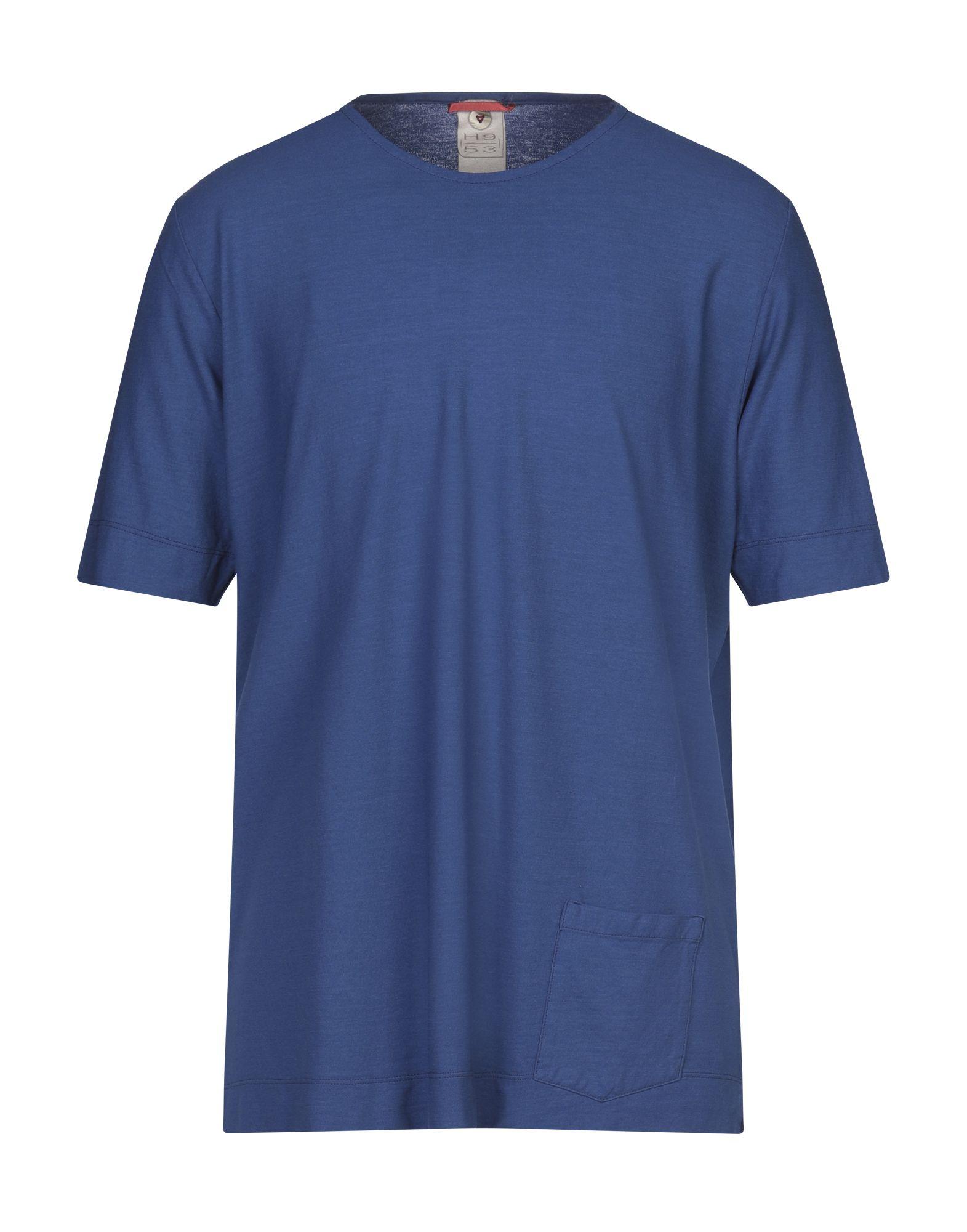 《セール開催中》H953 メンズ T シャツ ブルー 46 コットン 100%
