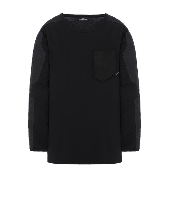 长袖 T 恤 男士 20411 LONG SLEEVE-T WITH CATCH POCKET Front STONE ISLAND SHADOW PROJECT