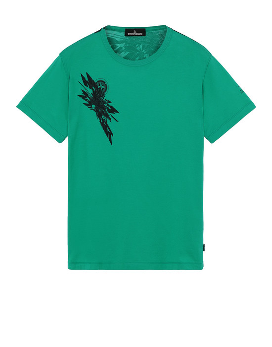 STONE ISLAND SHADOW PROJECT 20110 PRINTED SS T-SHIRT Short sleeve t-shirt Man Emerald Green