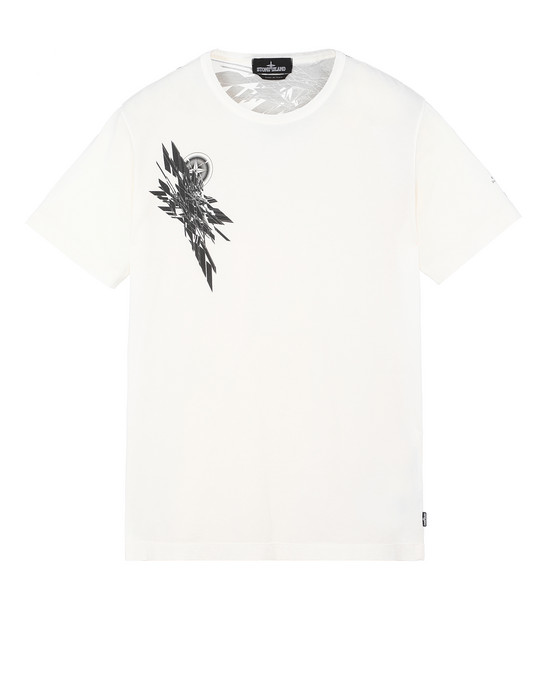 STONE ISLAND SHADOW PROJECT 20110 PRINTED SS T-SHIRT Short sleeve t-shirt Man Natural White