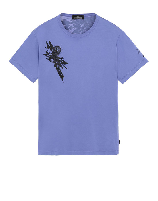 STONE ISLAND SHADOW PROJECT 20110 PRINTED SS T-SHIRT Short sleeve t-shirt Man Lavender