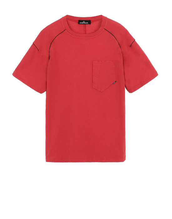 STONE ISLAND SHADOW PROJECT 20511 COMPACT PIPING-T Short sleeve t-shirt Man Red