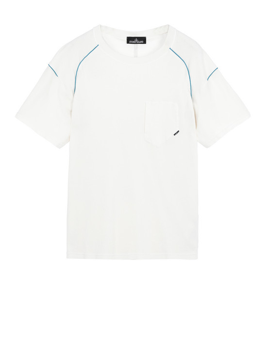 STONE ISLAND SHADOW PROJECT 20511 COMPACT PIPING-T Short sleeve t-shirt Man Natural White