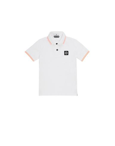 STONE ISLAND KIDS 21348 Polo shirt Man White EUR 93