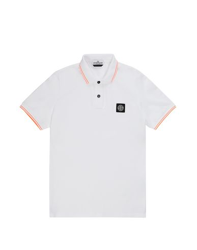 STONE ISLAND TEEN 21348 Polo shirt Man White EUR 73