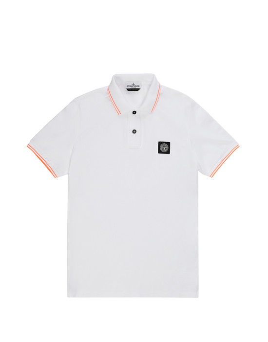 STONE ISLAND JUNIOR 21348 Polo shirt Man White