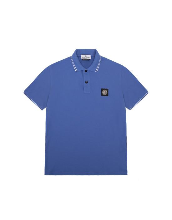 STONE ISLAND JUNIOR 21348 Polo shirt Man Periwinkle