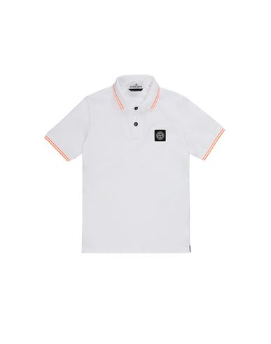 STONE ISLAND JUNIOR 21348 Polo shirt Man White EUR 85