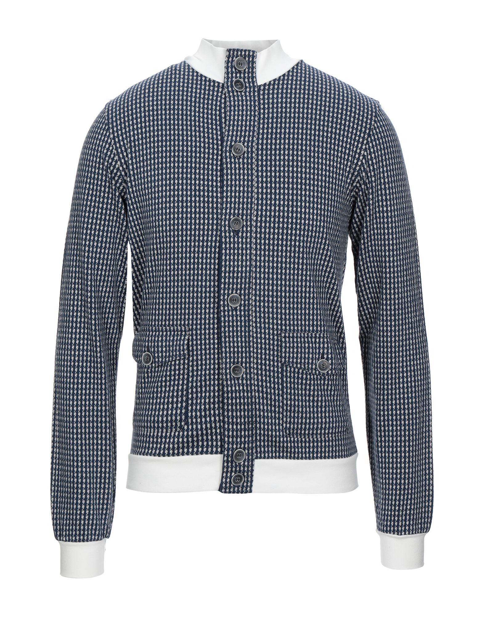 《セール開催中》D'UOMO メンズ スウェットシャツ ブルー S コットン 100%