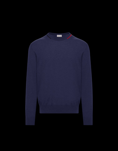 CREWNECK Dark blue Knitwear & Sweatshirts Man