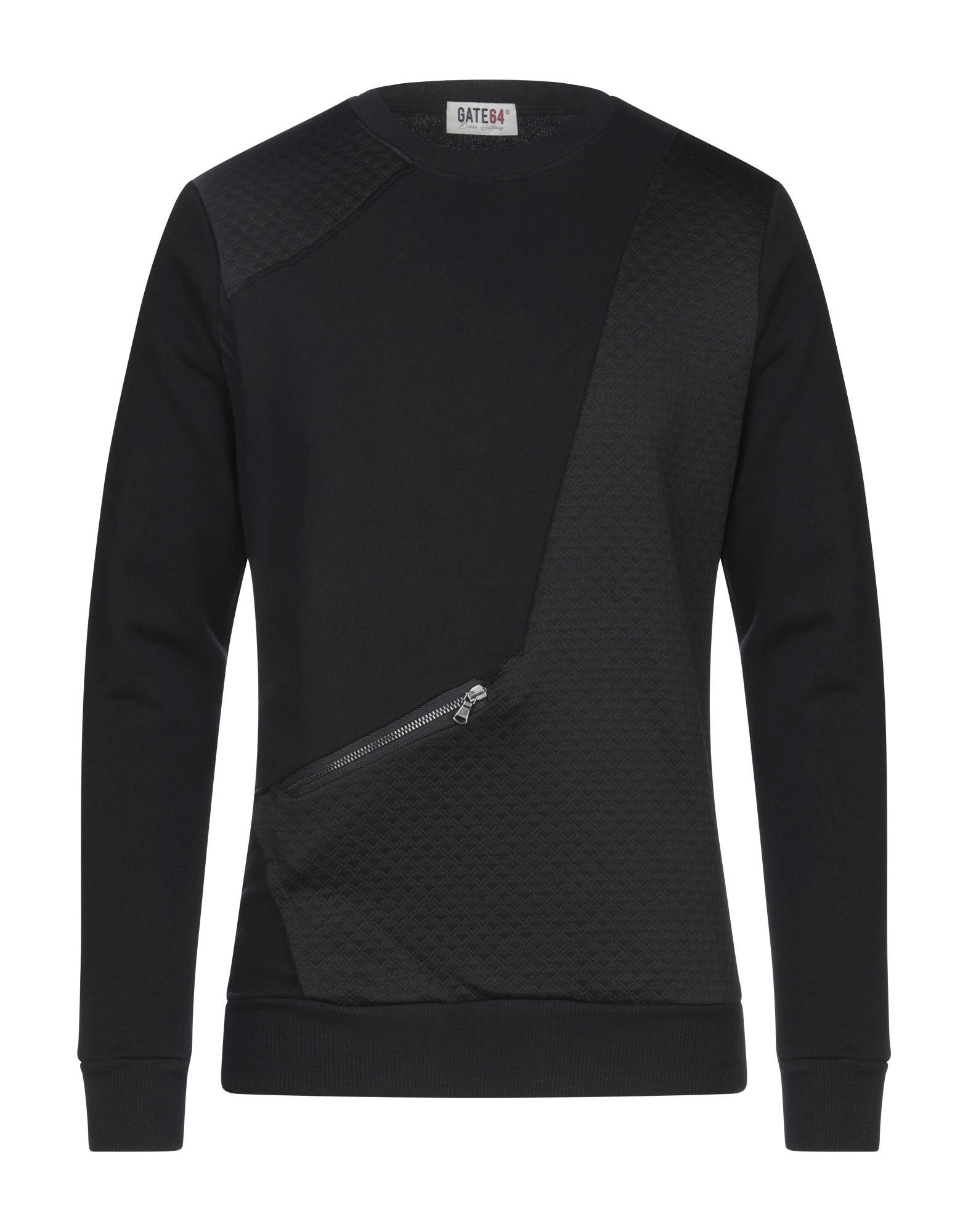 《セール開催中》GATE64 メンズ スウェットシャツ ブラック M コットン 100% / ポリエステル / ポリウレタン