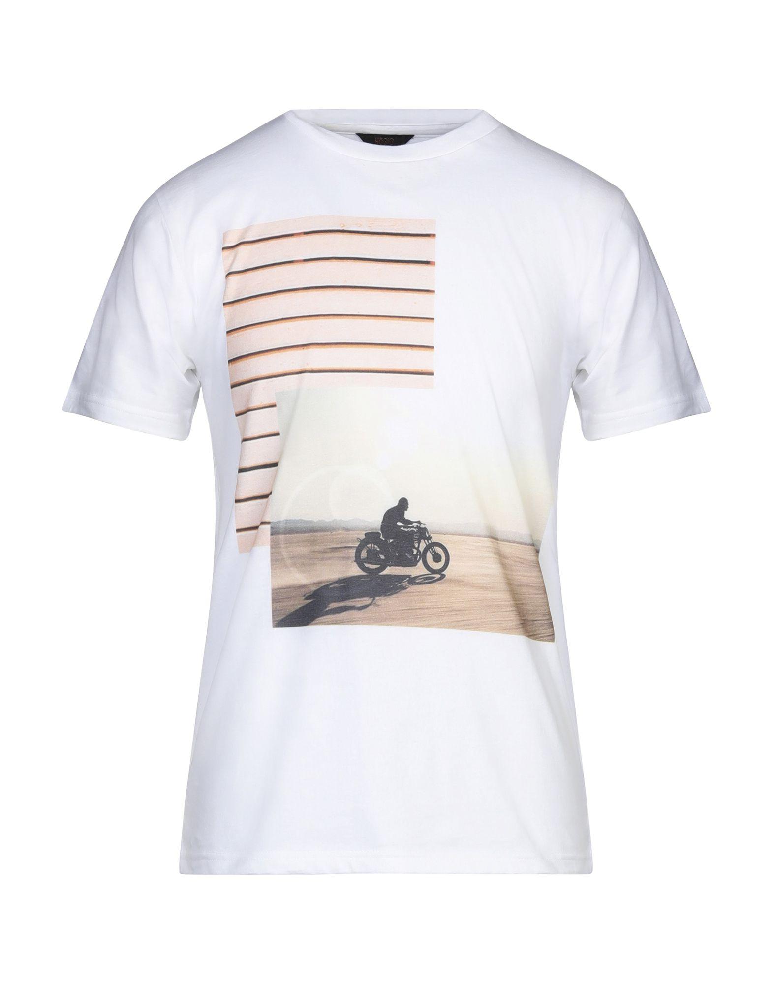 《セール開催中》H?SIO メンズ T シャツ ホワイト S コットン 100%