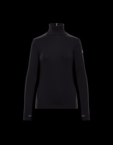 Turtleneck Black T-shirts & Tops Woman